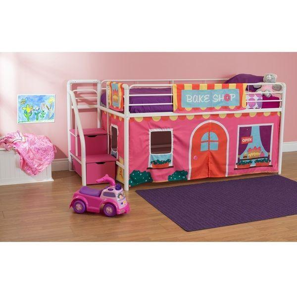 Dhp Loft Bed Curtain Set 30 H X 77 W X 40 D Princess Castle