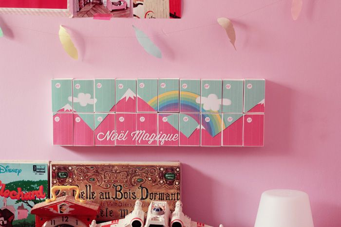 DIY : le calendrier de l'avent « Over the Rainbow » – Poulette Magique