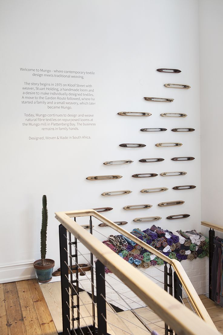 Shop Scene | Kikois and flying shuttles on the wall at the Mung Store in Cape Town