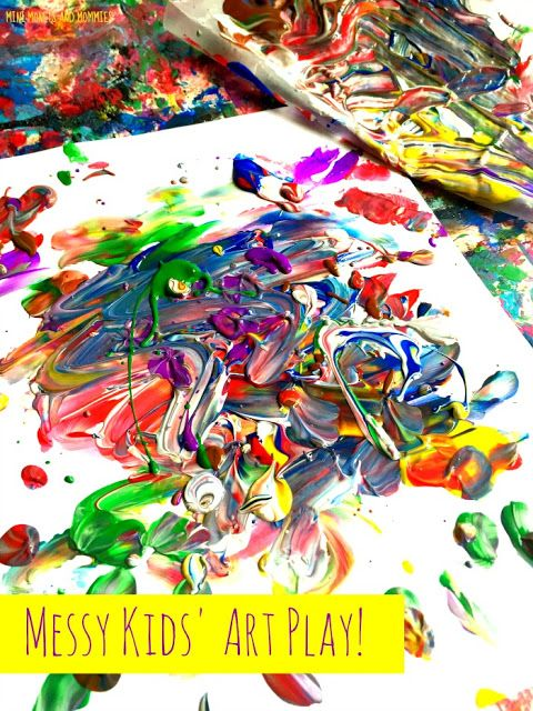 Messy art for kids! Your child can create process art with paint, clay and more!