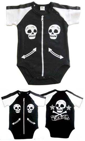 Cool Baby Biker Skull Onesie