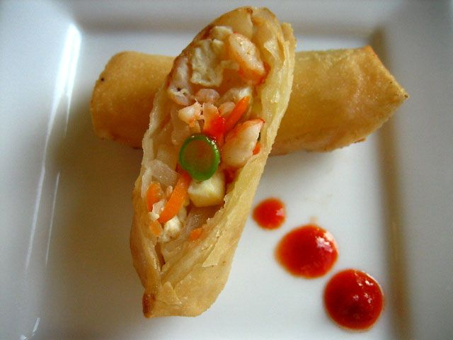 chicken floss spring roll recipe