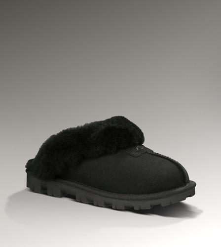 UGG Coquette Slipper 5125 Black-$102.4