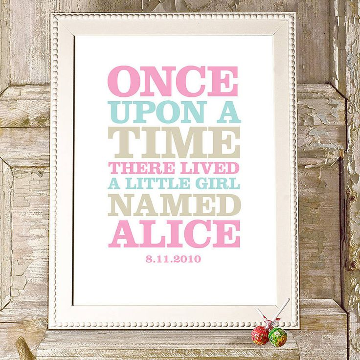 Once Upon a time.... Paint it on wall/wall stencil