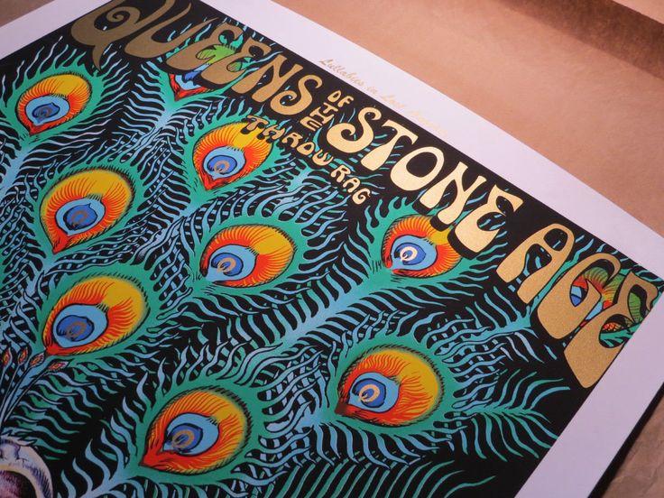 #art RARE Signed EMEK QUEENS of the STONE AGE QOTSA Fonda Theater 2005 Print! please retweet