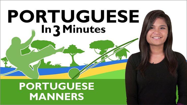 """Thank You"" & ""You're Welcome"" - Learn  Brazilian Portuguese - Brazilian Portuguese in 3 Minutes"