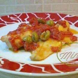 Merluzzo olive e pomodoro fresco