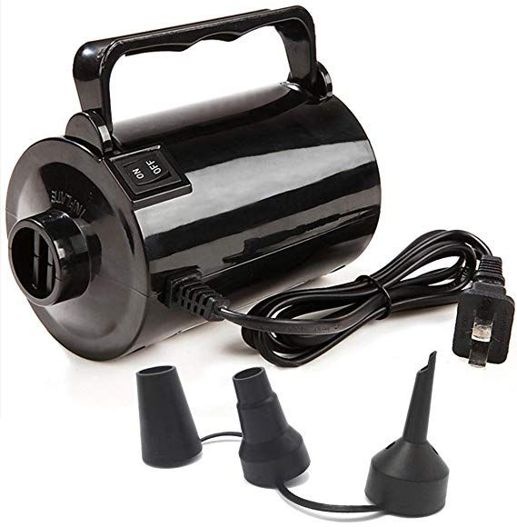 Electrical Pump 120 Volt for Air Beds Inflatable Pools Beach Balls 3 Valves New