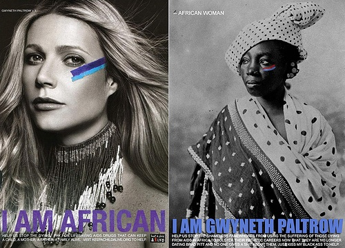 """I am African"" ""I am Gwyneth Paltrow"" [click on this image for a brief video and analysis on cultural appropriation]"