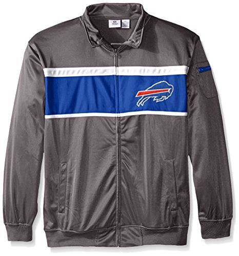 NFL Buffalo Bills Mens Tricot Track Jacket Charcoal 5X * Continue to the product at the image link.
