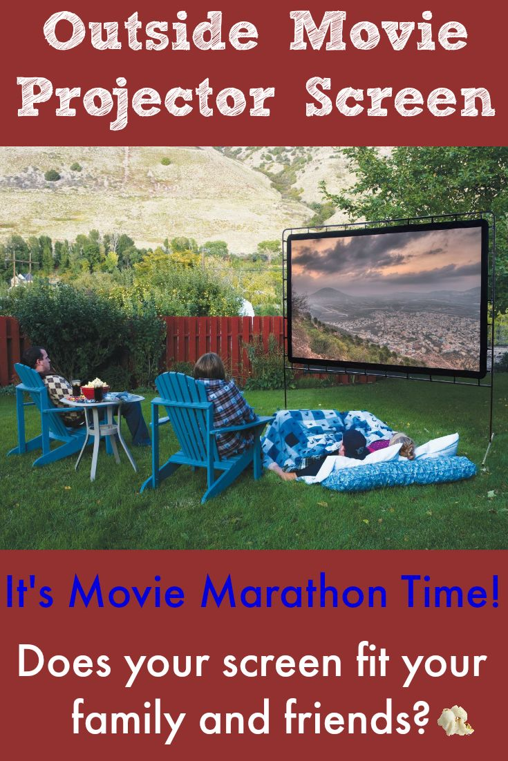 Backyard Movie Night. Can all your guests see the screen? Are You Sure? Find the right size for your size gathering right here.