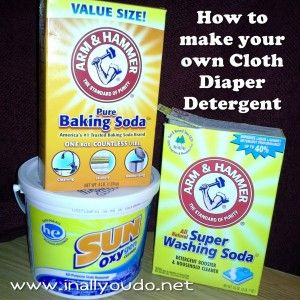 Maid for Mondays: How to wash Cloth Diapers and Homemade Cloth Diaper Detergent - In All You Do