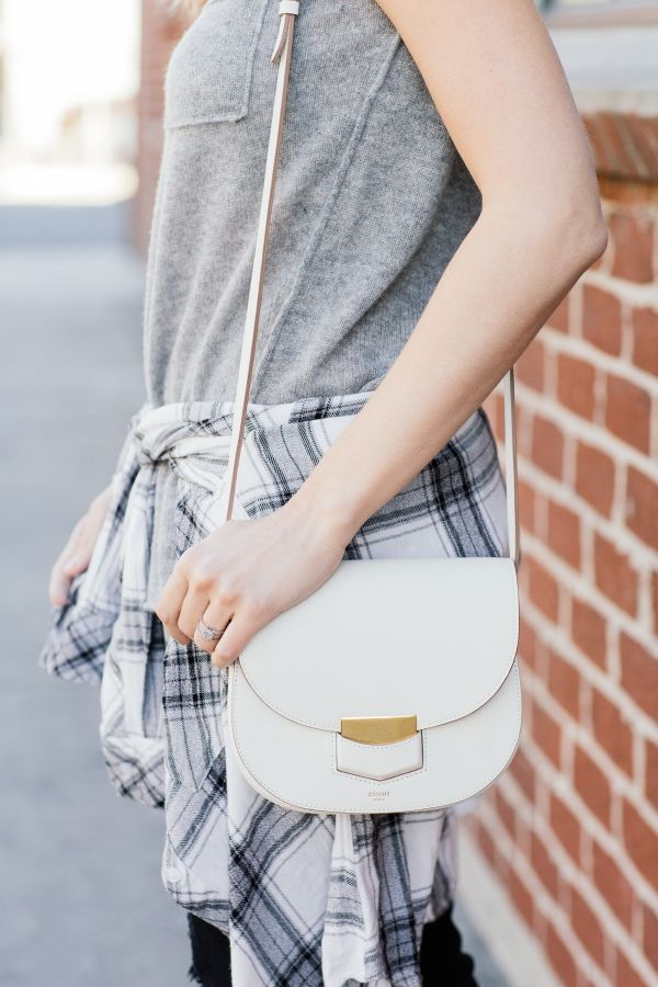 white Celine shoulder bag #spring