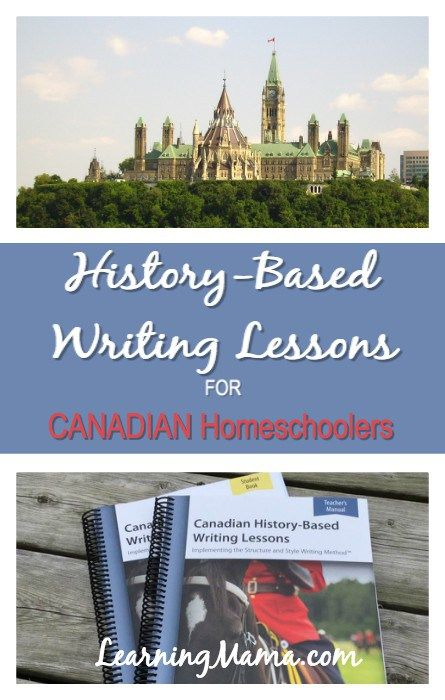 IEW's Canadian History-Based Writing Lessons - a Review