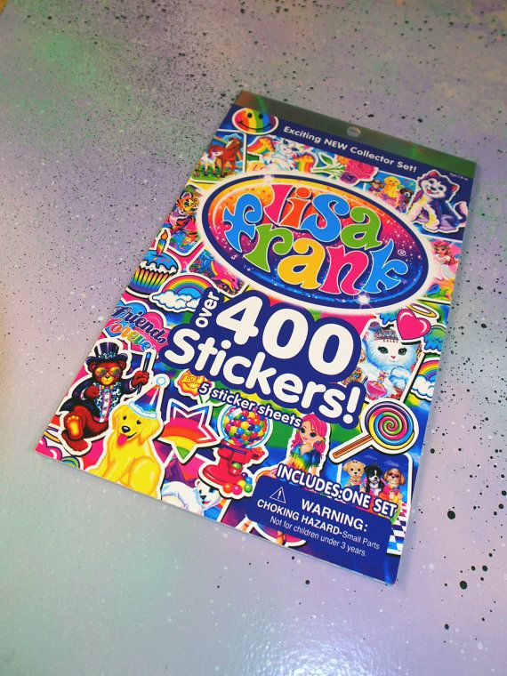 Lisa Frank Stickers Booklet // Cute Lisa Frank Stickers Book // Lisa Frank Sticker Set // Pastel Goth Cyber Kid Rainbow Animal Stickers