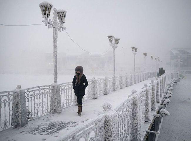 """Quando pensas que estás """"cheio de frio"""", lembra-te disto: há um lugar tão estupidamente frio na Terra, que a temperatura mais baixa chegou aos -67,7°C"""