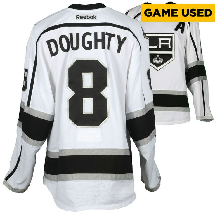 Drew Doughty Los Angeles Kings Fanatics Authentic Game-Used #8 White Jersey from the 2016-17 NHL Season