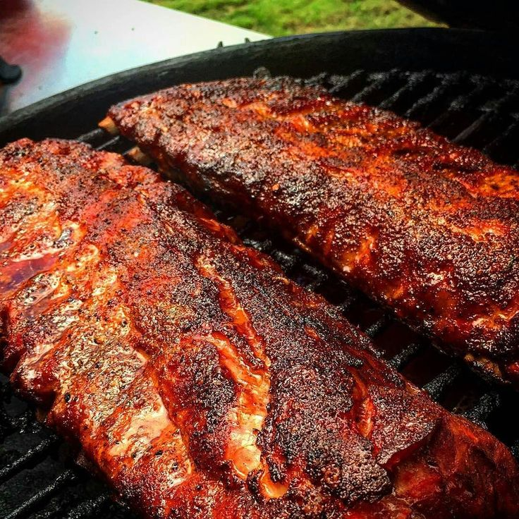 and ribs courtesy of @bgegrillin - Baby back ribs smoked over cherry ...