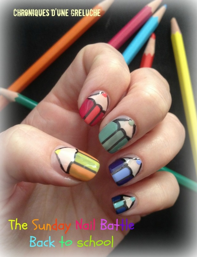 Back to School Nails  http://nailartpaintersp.blogspot.com.es/