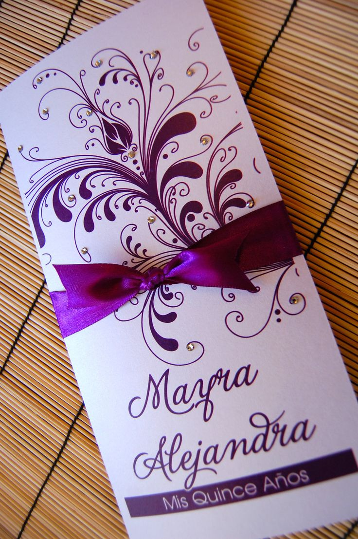 Sweet Sixteen or Quinceanera invitations. $3.50, via Etsy.