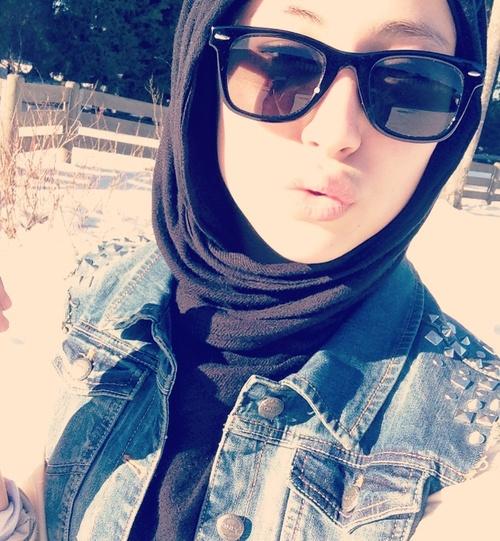 #hijab with shades #hijabi #style #fashion