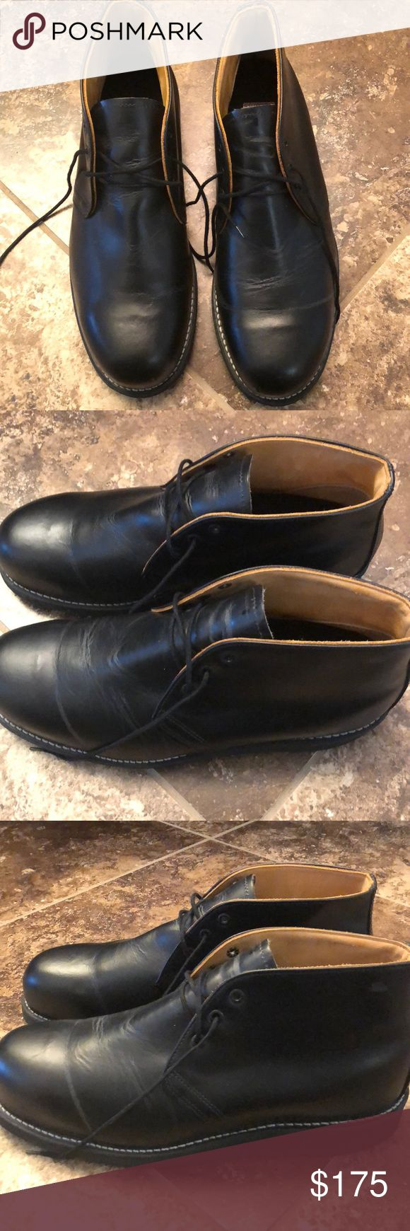Men's Boots Men's Red Wing Steel Toe Boots. Size 12. Black Leather. Steel Toe. Only worn Once! Red Wing Shoes Shoes Boots