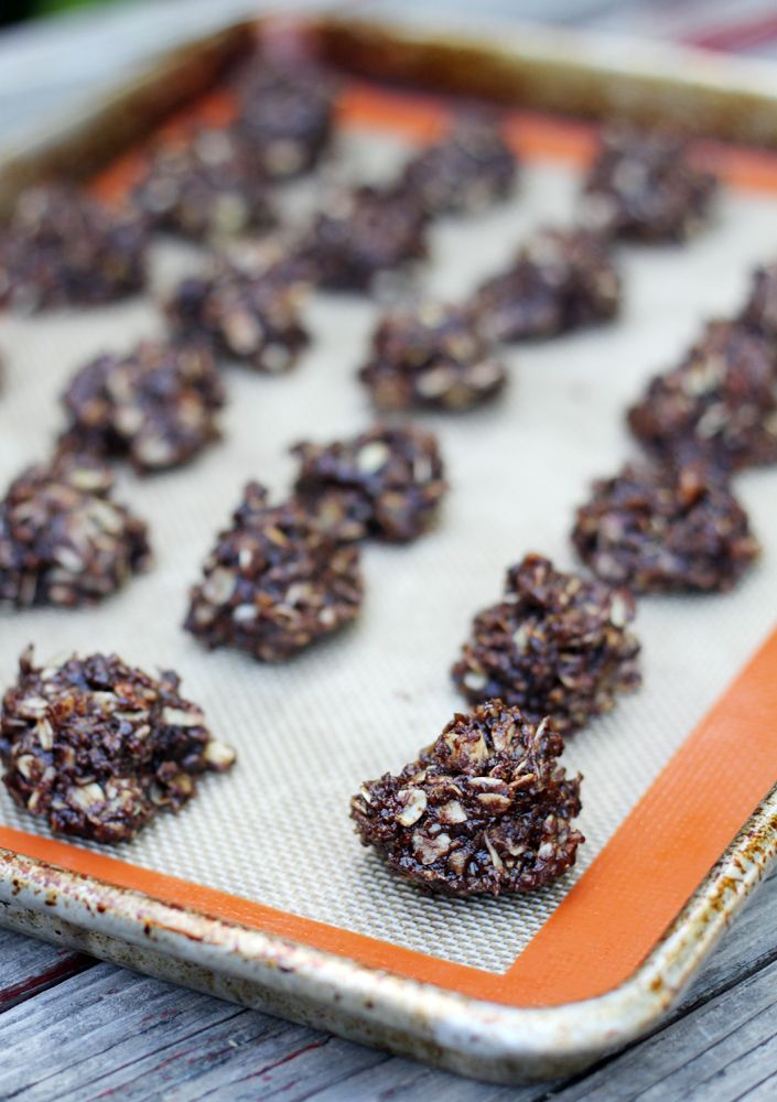 small + friendly: Chocolate Almond No Bake Lactation Cookies
