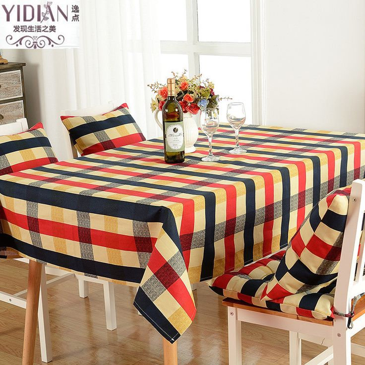 British 2 Patterns Plaid Pure Cotton Table Cloth Dust Cover Cafe Wedding Decor Picnic Tablecloth Hotel Home Dinner Table Decor #Affiliate