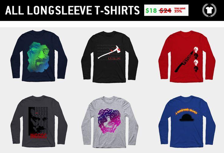 Sales on Everything Today only! $18 Movie Longsleeve T-Shirts. #sales #longsleevetshirts #tshirts #discount #save #septembersales #movietshirt #39 #style #fashion #psychotshirt #1984tshirt #possessiontshirt #medusa #breakingbadtshirt #aclockworkorangetshirt #cinema #movie #family #gifts #shopping #onlineshopping #teepublic