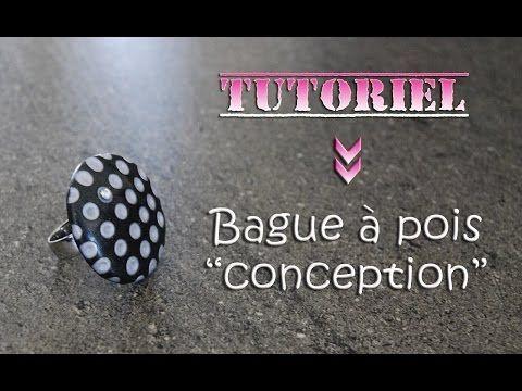 Tuto fimo/polymère bague pois et sa conception - YouTube