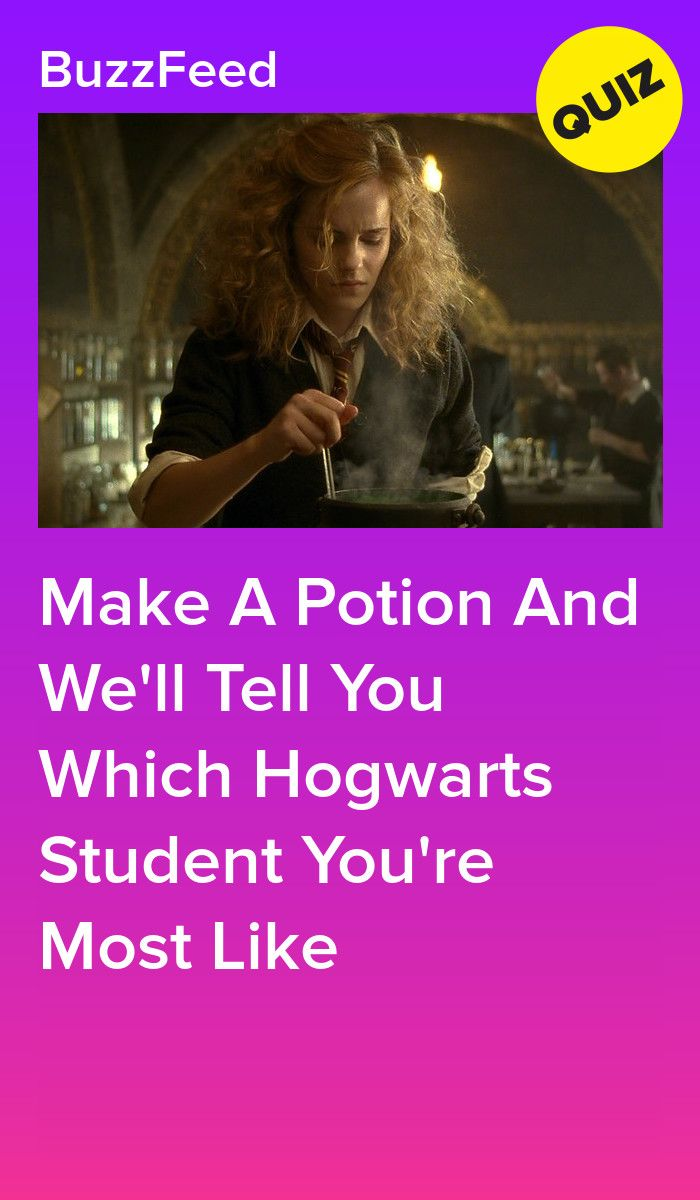 Make A Potion And We'll Tell You Which Hogwarts Student You