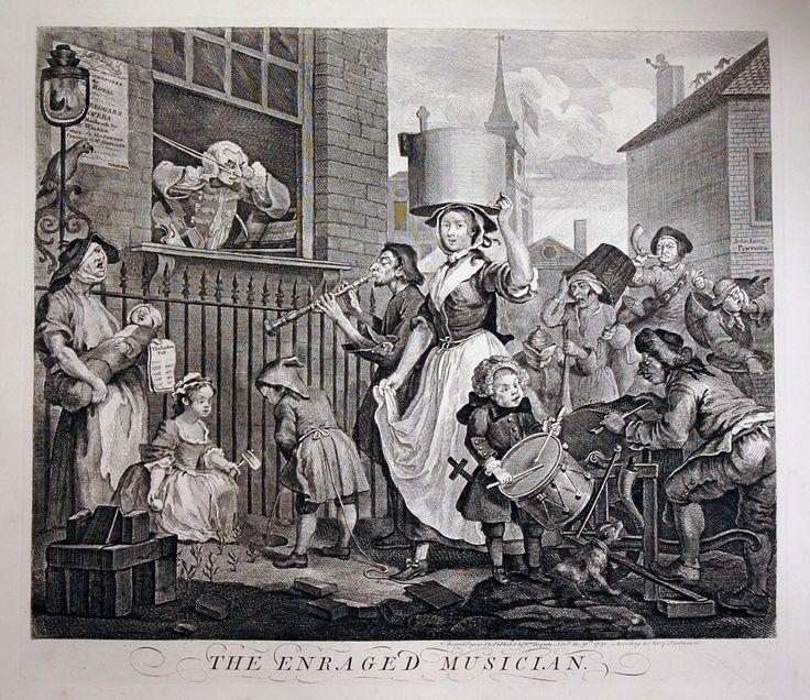 William Hogarth, the Enraged Musician.