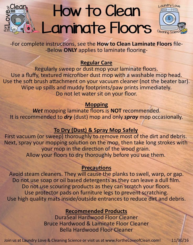 Cleaning Laminate Flooring