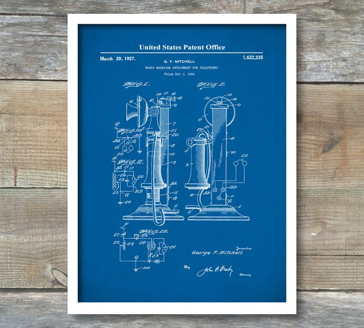 18 best antique telephones images on pinterest antique phone patent print telephone patent office decor phone patent telephone patent vintage malvernweather Images