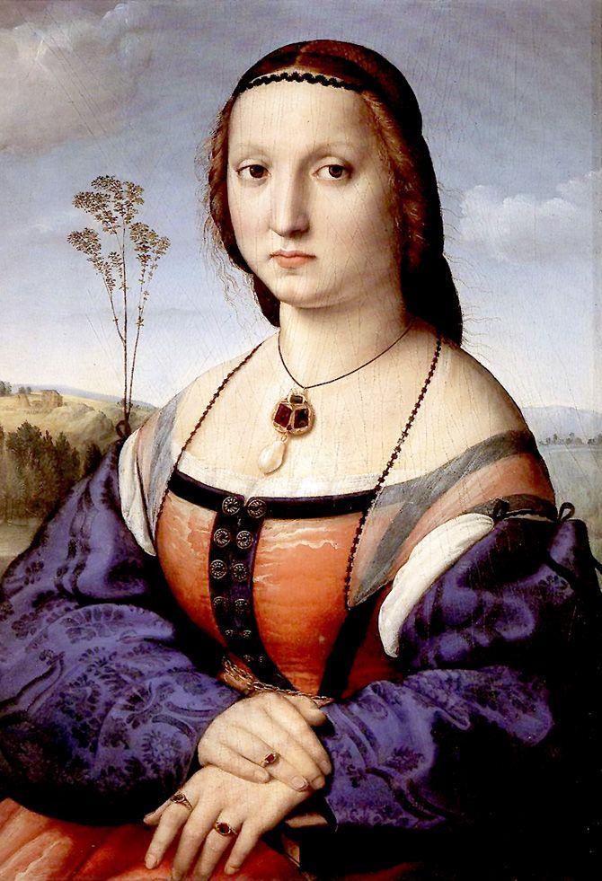 Raphael (Raffaello Sanzio da Urbino) ~ Portrait of Maddalena Doni, 1506