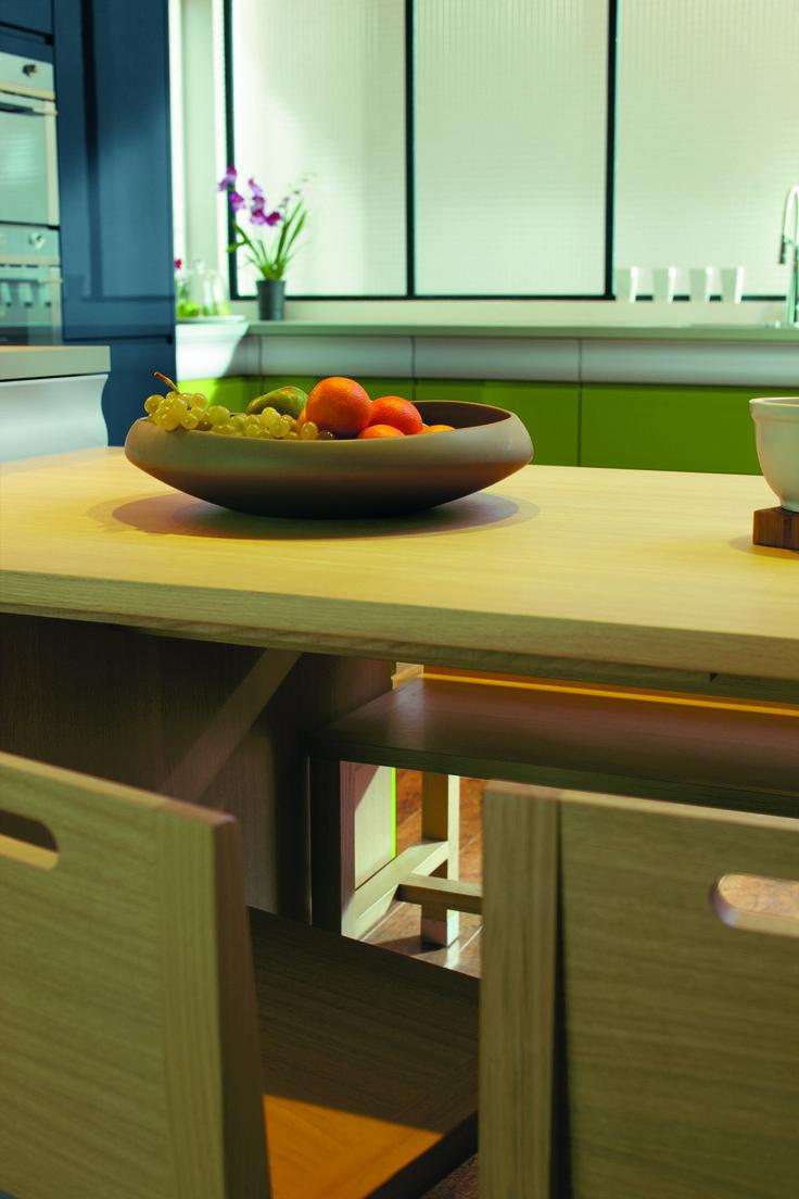 13 best cuisine rendez vous vert bleu images on pinterest dates kitchens and kitchen modern. Black Bedroom Furniture Sets. Home Design Ideas