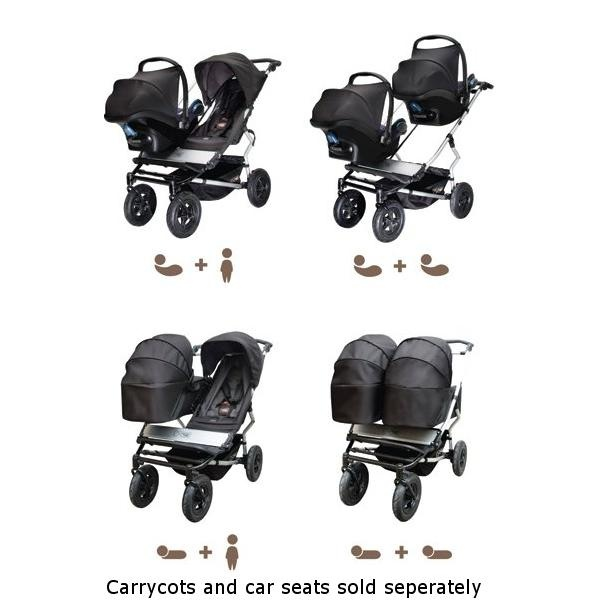 Mountain Buggy Duet Twin Pushchair - Flint -coolest stroller ever...maybe for next child? I better start saving!