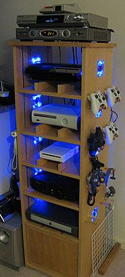 Make the Ultimate Gamer's Cabinet!  Can we do this when we re-do the game room?