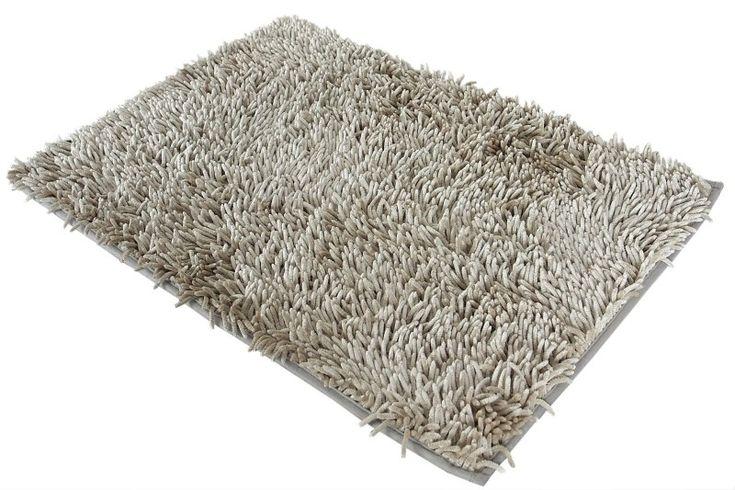 Beżowo szary dywanik łazienkowy