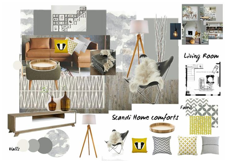 Has Created This Beautiful Hand Sketch And Series Of Mood Boards For Her Assignment Submission During Our Online Diploma Interior Design Course