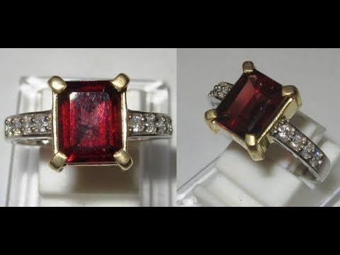 Cincin Silver Batu Permata Garnet Merah 2.89 carat