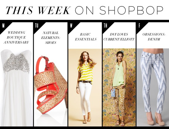A sneak peek at what's to come this week on Shopbop.com.Style, Shopbopcom