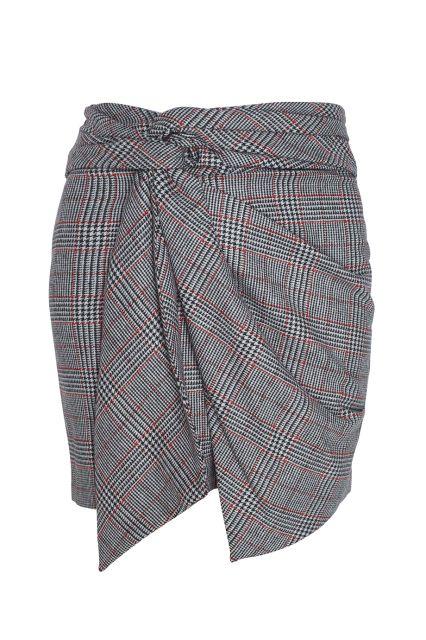 Клетчатая юбка Kim Isabel Marant - Юбка необычного кроя напоминает модели с запáхом в интернет-магазине модной дизайнерской и брендовой одежды