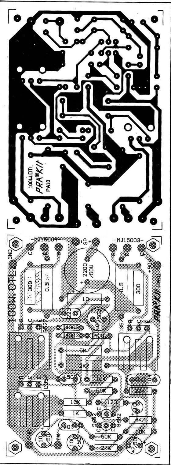 Auxiliary Symmetric Otl Power Amplifier Circuit Diagram Board Alephx 100w Construction Notes