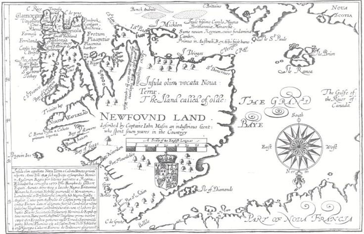 Newfound Land (1625), described by Captain John Mason. Published in William Vaughan's Cambrensium Caroleia.