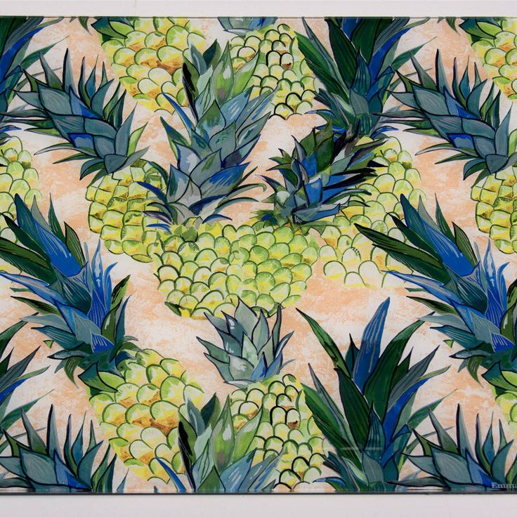 I've just found Pineapple Patterned Glass Splashback. This easy to clean, glass splashback is designed and made to order in Nottingham. . £252.00