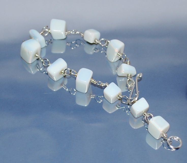 OOAK Delicate Bracelet With Moonstone Elements by IacobJewelry on Etsy