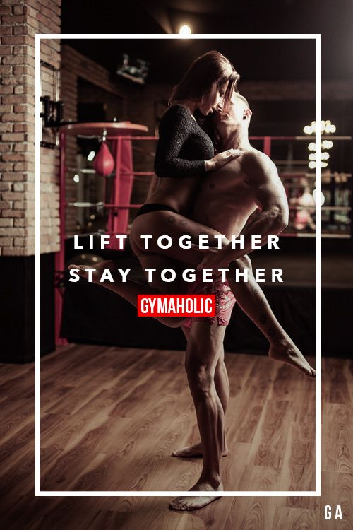 Lift together, stay together. Fitness couples at his finest! http://www.gymaholic.co
