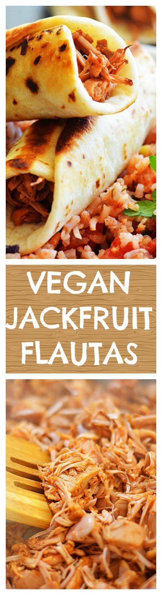 Jackfruit Flautas with Sweet Corn Sauce - TheVegLife