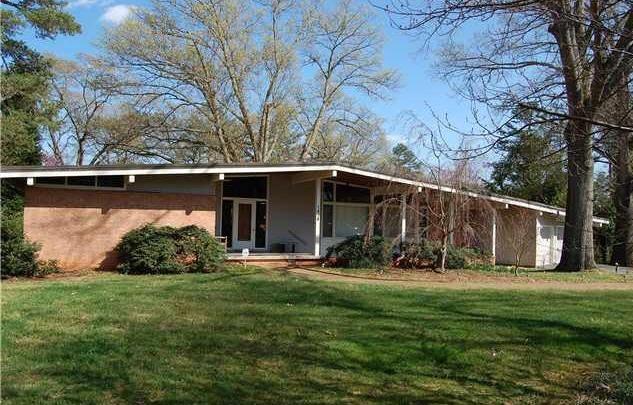 1960 - The Garland Dewey Johnson and Elma Johnson Arndt House, 1428 Canterbury Road, Raleigh.